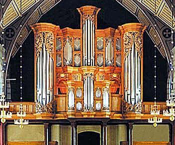 2001 GOArt organ at Örgryte nya kyrka, Göteborg, Sweden