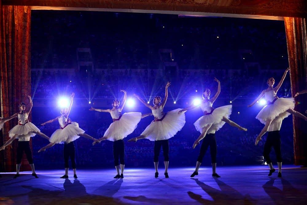 Dancers perform
