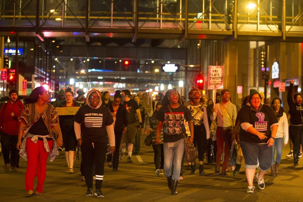 Protesters marched in Minneapolis