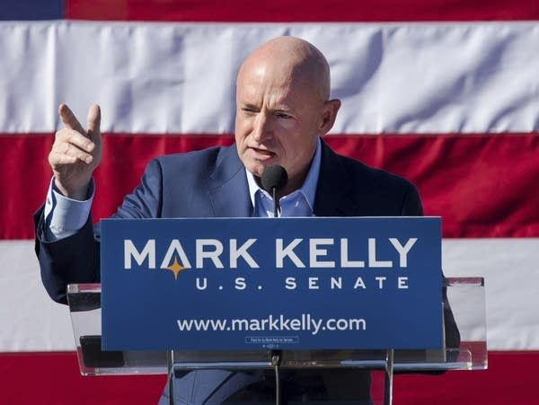 Former astronaut and Senate candidate Mark Kelly