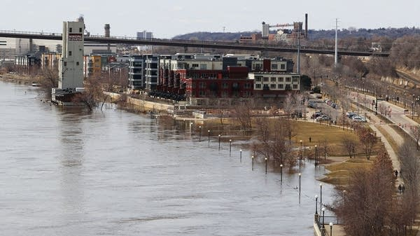 Mississippi River floodwaters cover parts of Upper Landing Park
