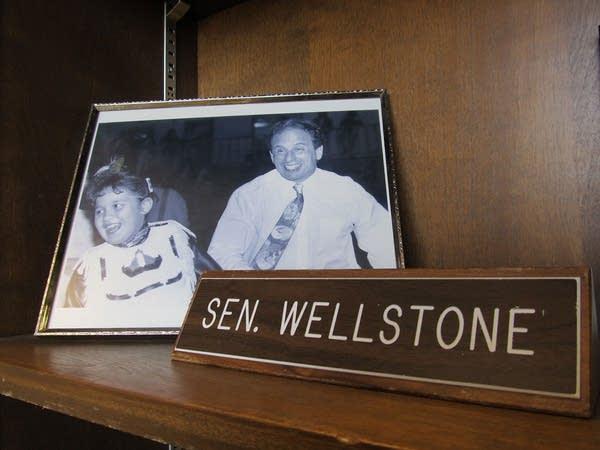 Sen. Wellstone's nameplate