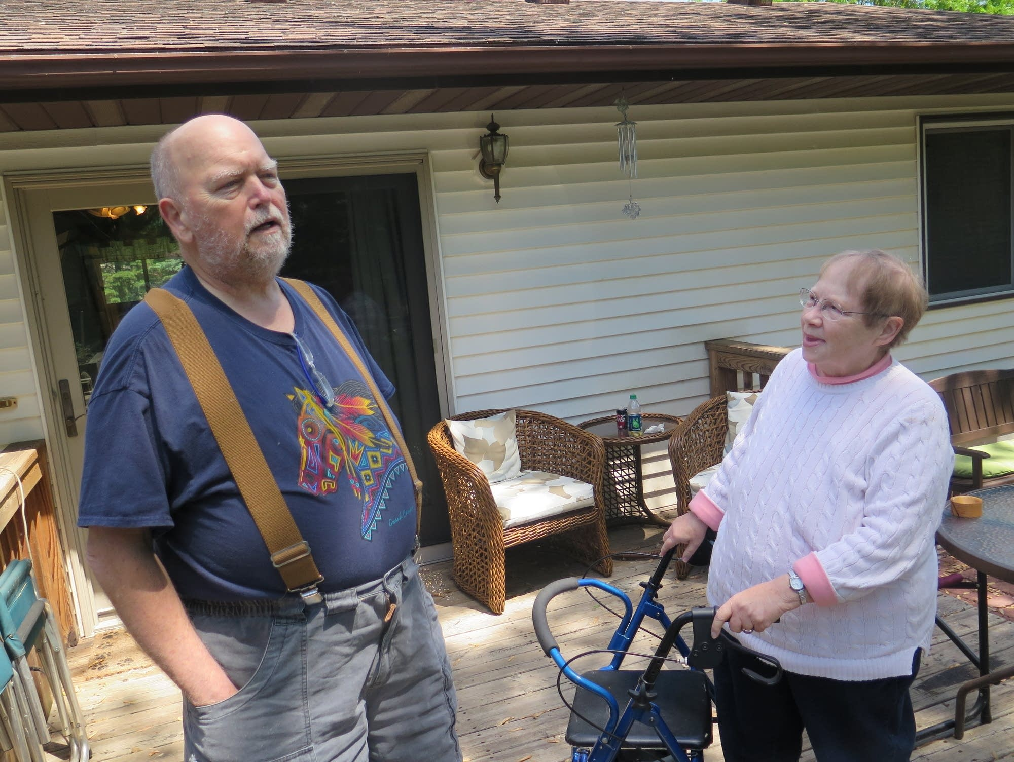 Pete and Rosemary Johnson use medical marijuana to deal with pain.