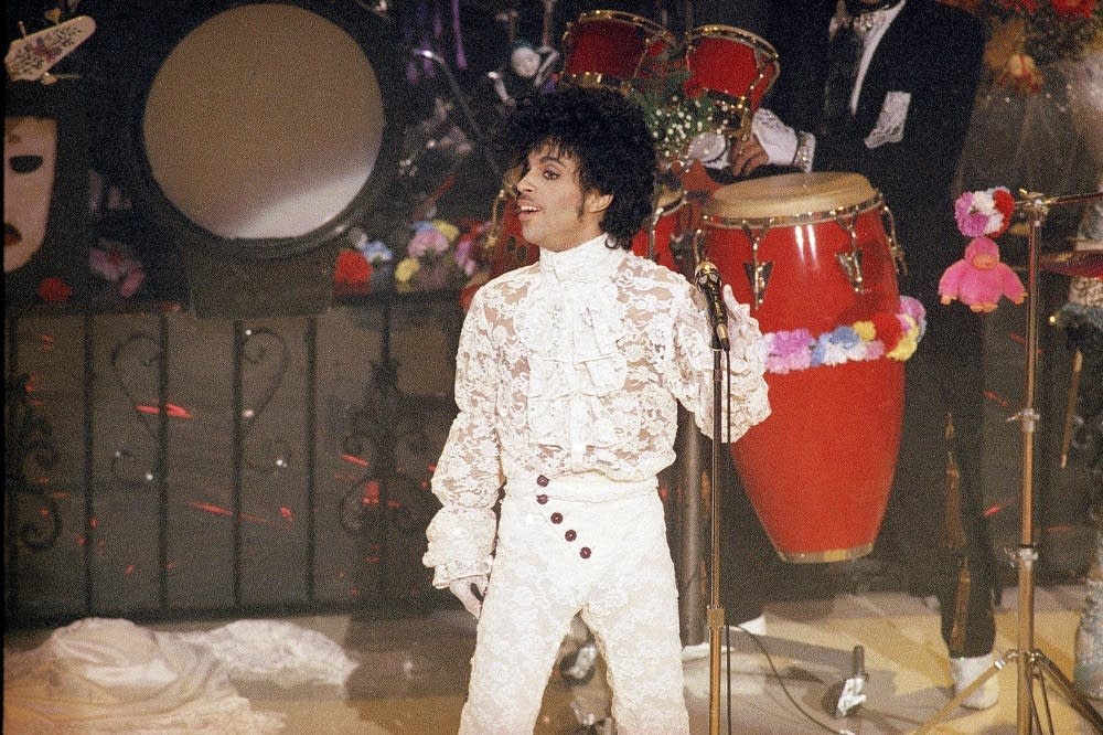 Prince performs at the Grammy Awards
