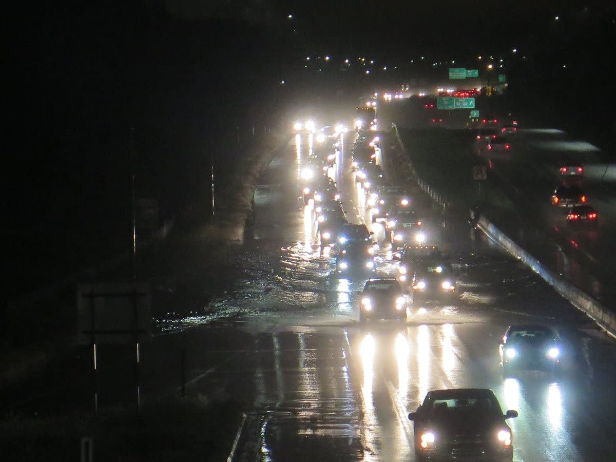 Flash flooding on U.S. Highway 169