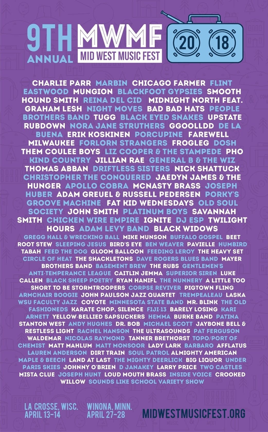 Mid West Music Fest 2018 poster.