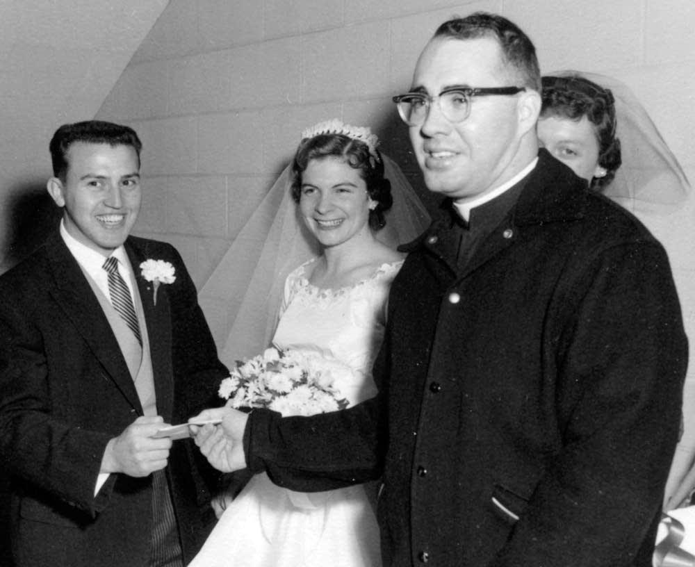 Dan and Barbara Richter with Rev. Kenneth Lavan.