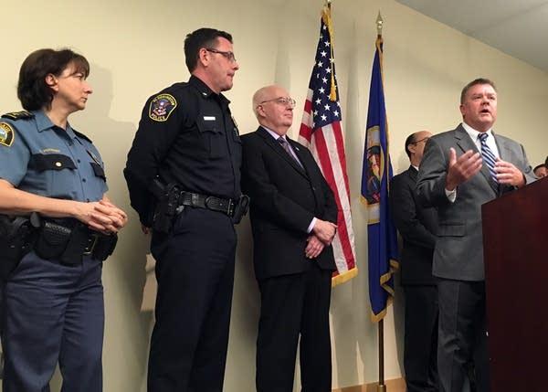 State Public Defender Bill Ward, right