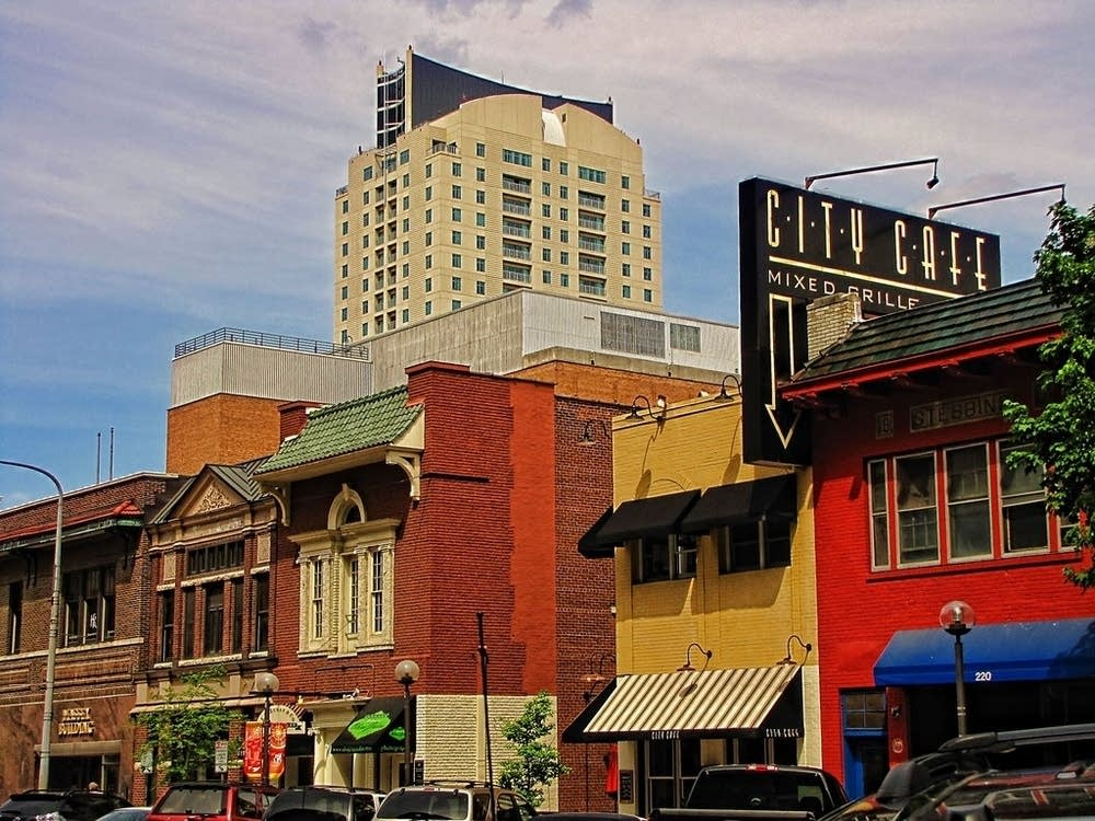 A street scene in Rochester