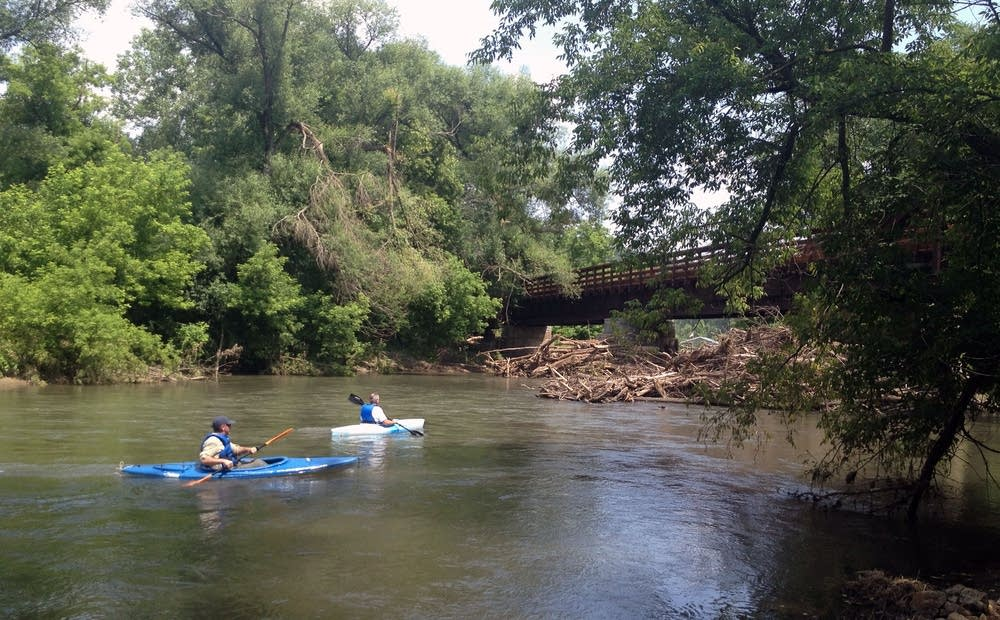 Kayakers on the South Branch of the Root River