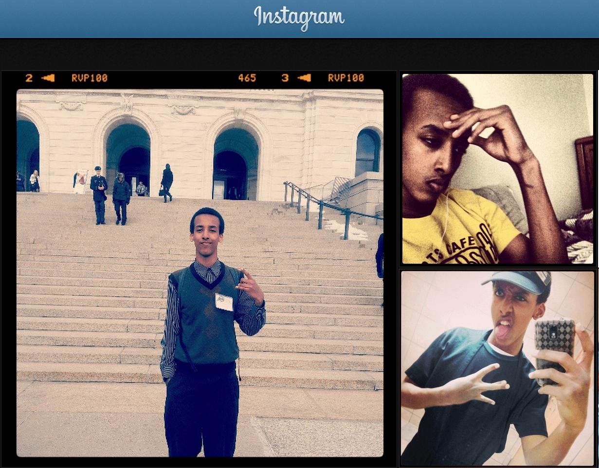 Hamza Ahmed's Instagram account
