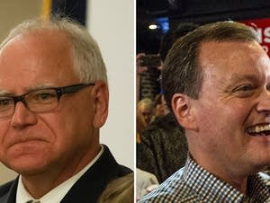 U.S. Rep. Tim Walz, DFL, and Hennepin County Commissioner Jeff Johnson.