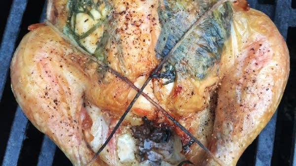 Grill-Roasted Chicken with Tarragon and Garlic