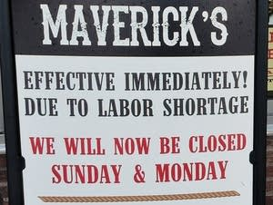 Maverick's restaurant sign
