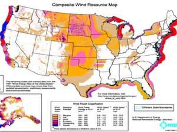 National wind resource map