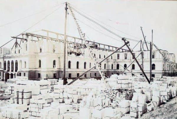 Capitol construction, Aug. 1, 1899