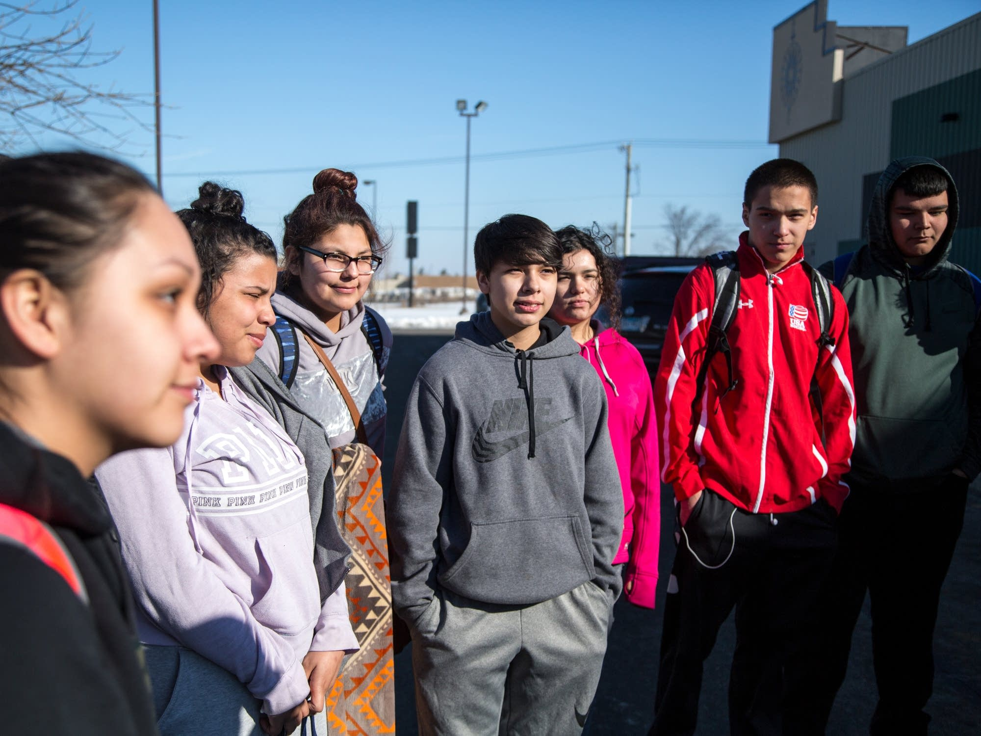 A handful of students walked out of Trek North Charter school in Bemidji.
