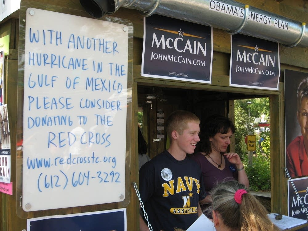John McCain's booth at the Minnesota State Fair