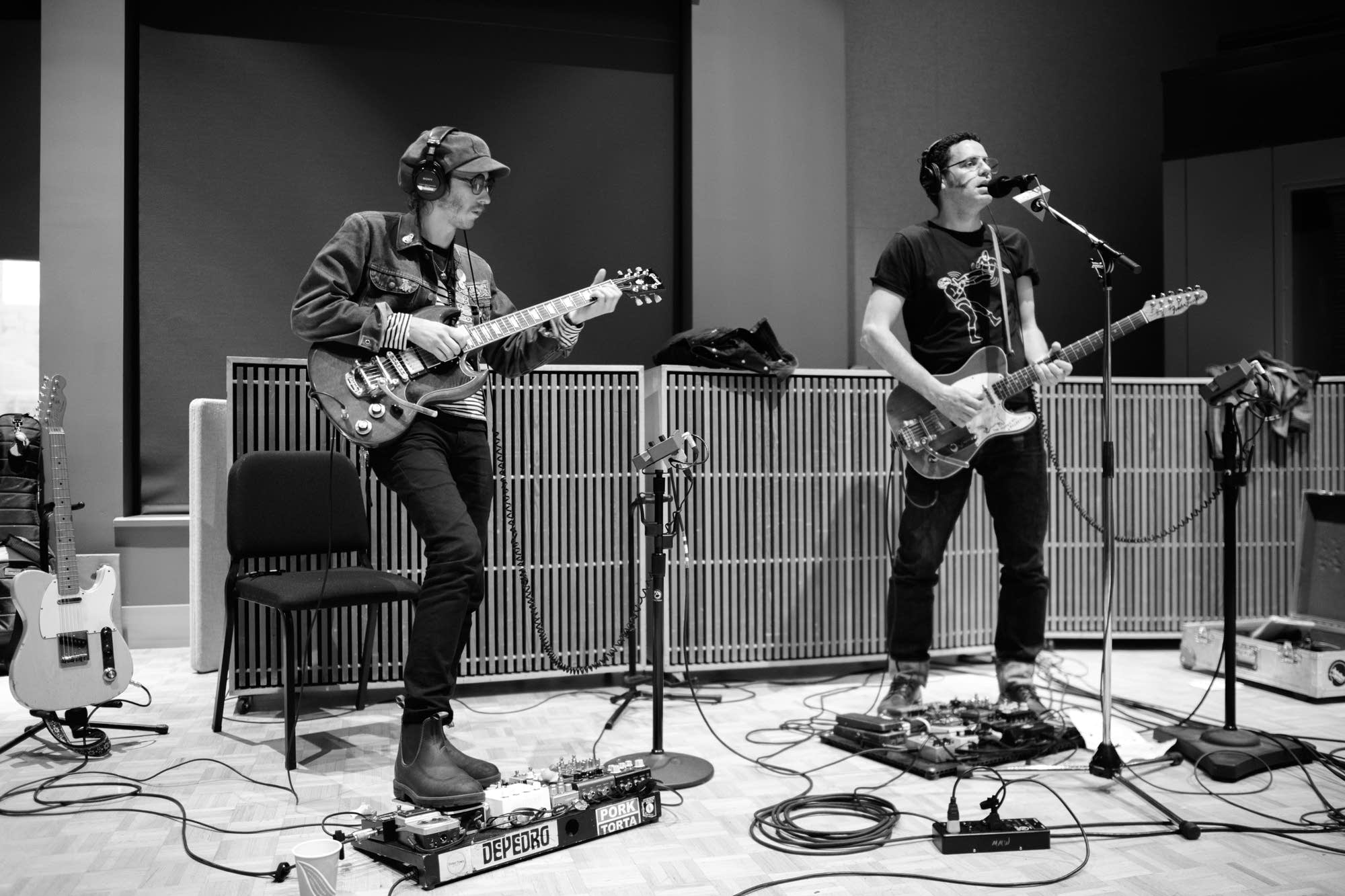 Calexico perform in The Current studio