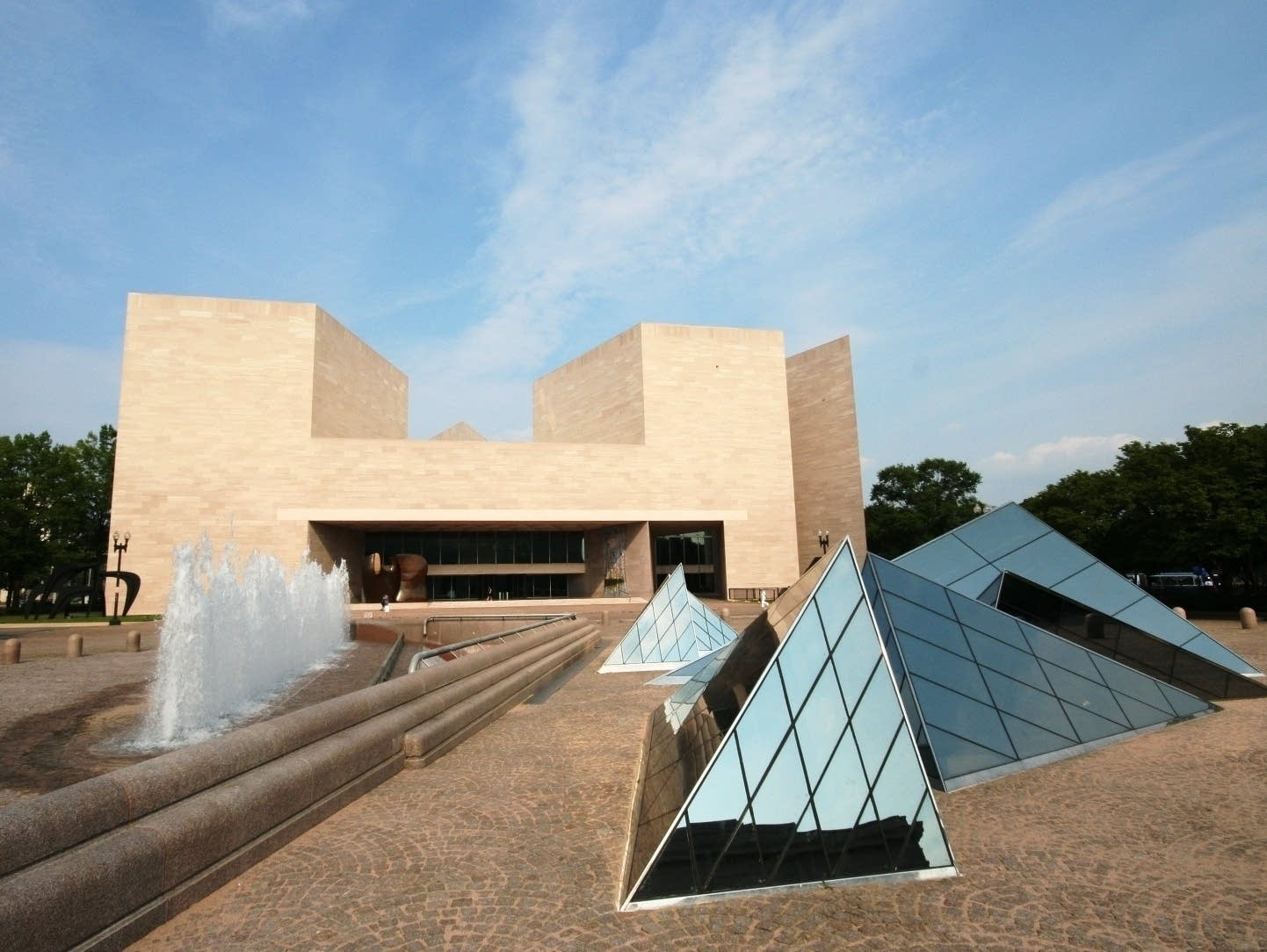 The East Building of National Gallery of Art in Washington.