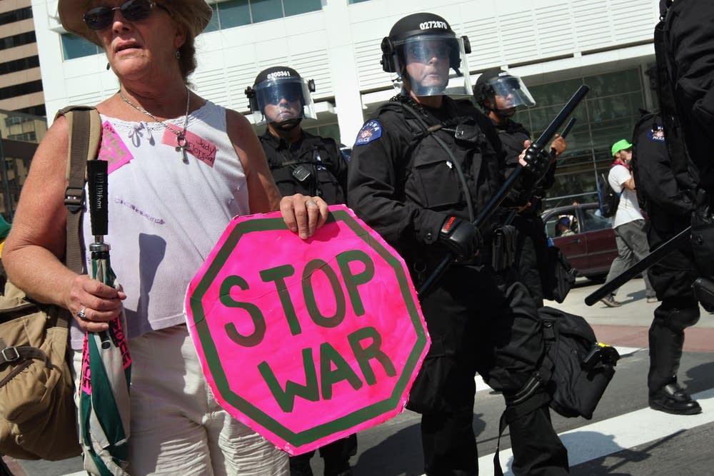 Activists protest at Democratic Convention