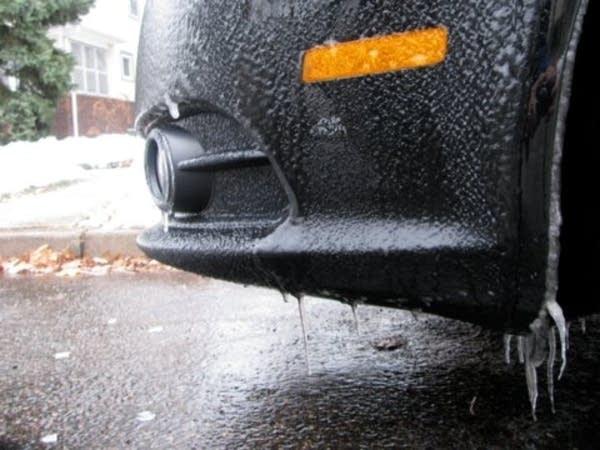 Icy car
