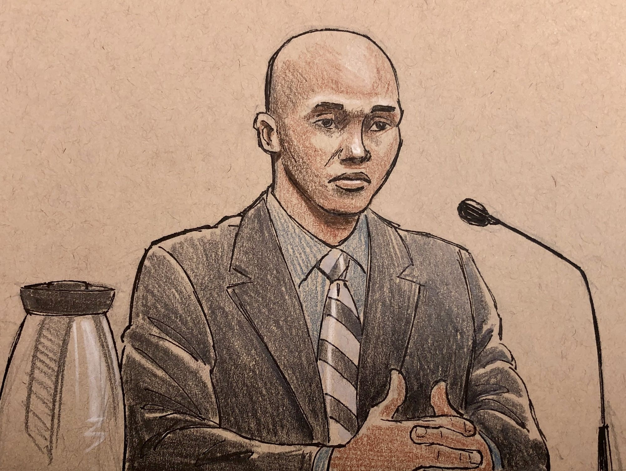 Mohamed Noor takes the stand at his trial.