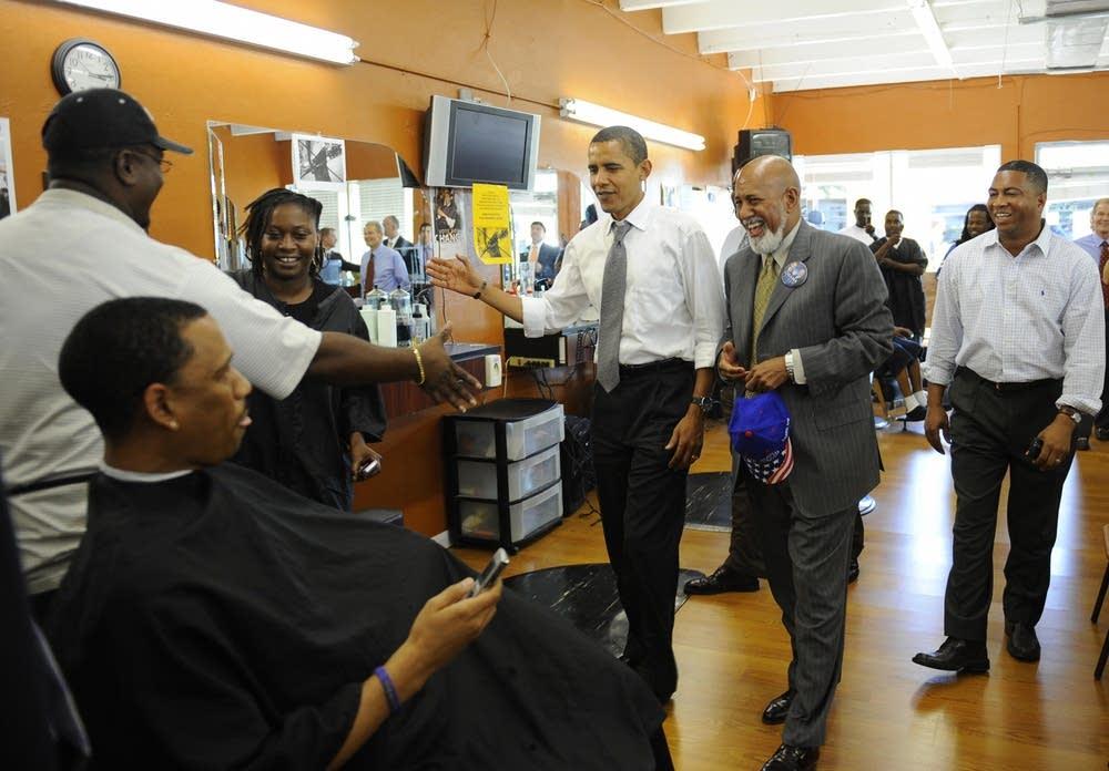 Barack Obama visits supporters in Florida