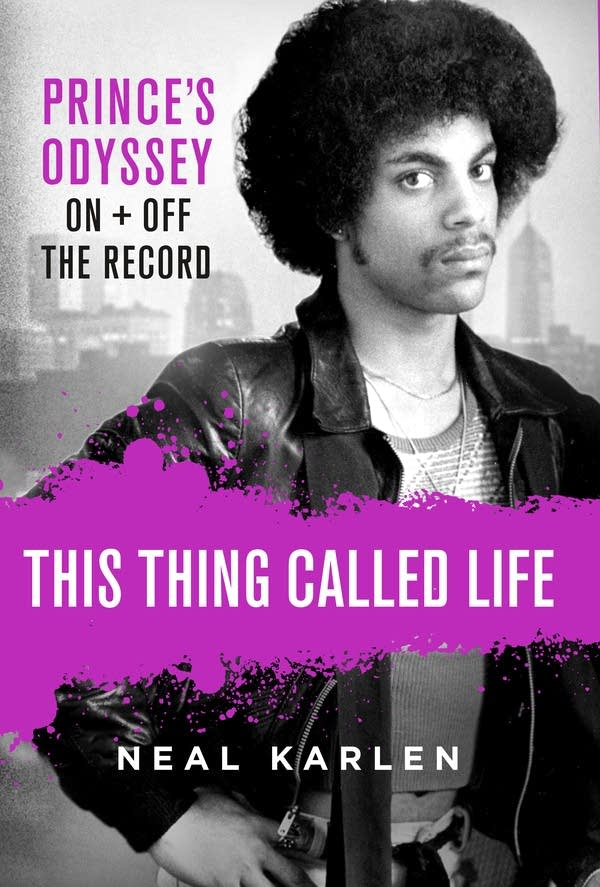 A book cover featuring an image of the artist Prince