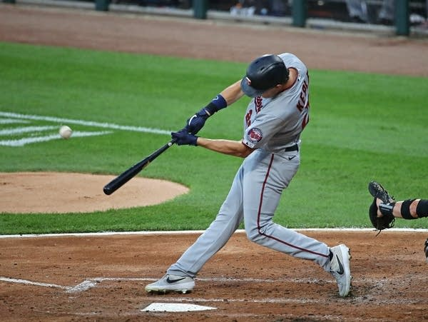 Max Kepler of the Minnesota Twins hits a home run