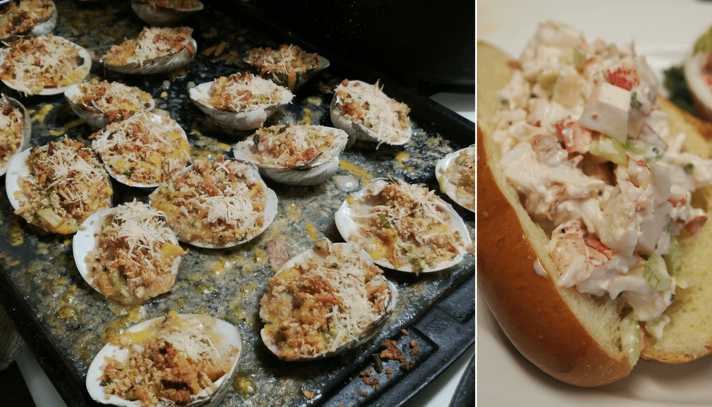 Clams, Lobster Roll