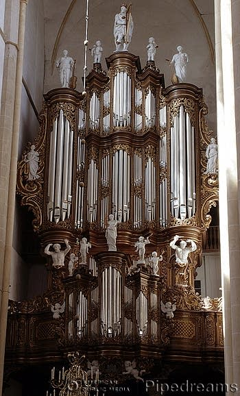 Rugwerk of the 1743 Hinsz organ at Bovenkerk, Kampen, The Netherlands