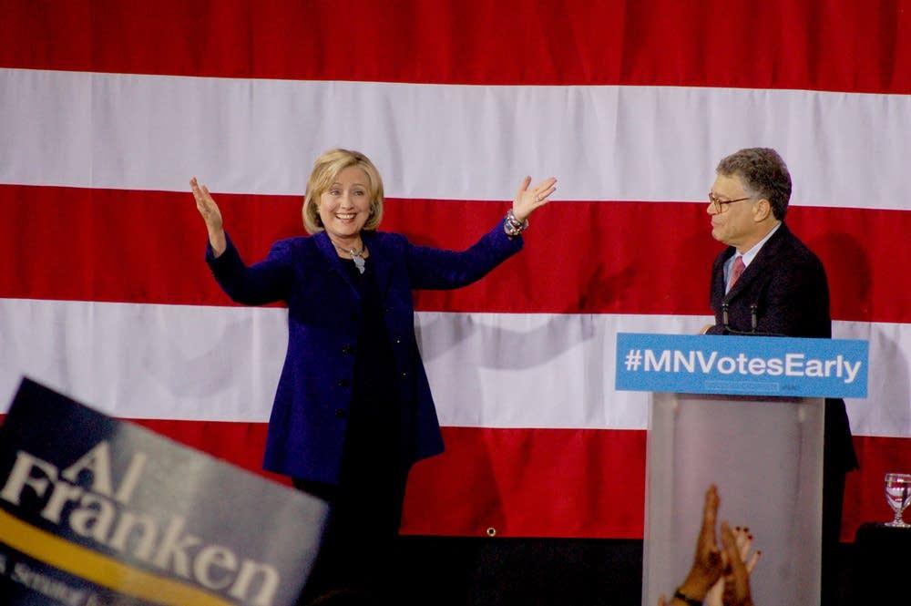 Clinton and Franken
