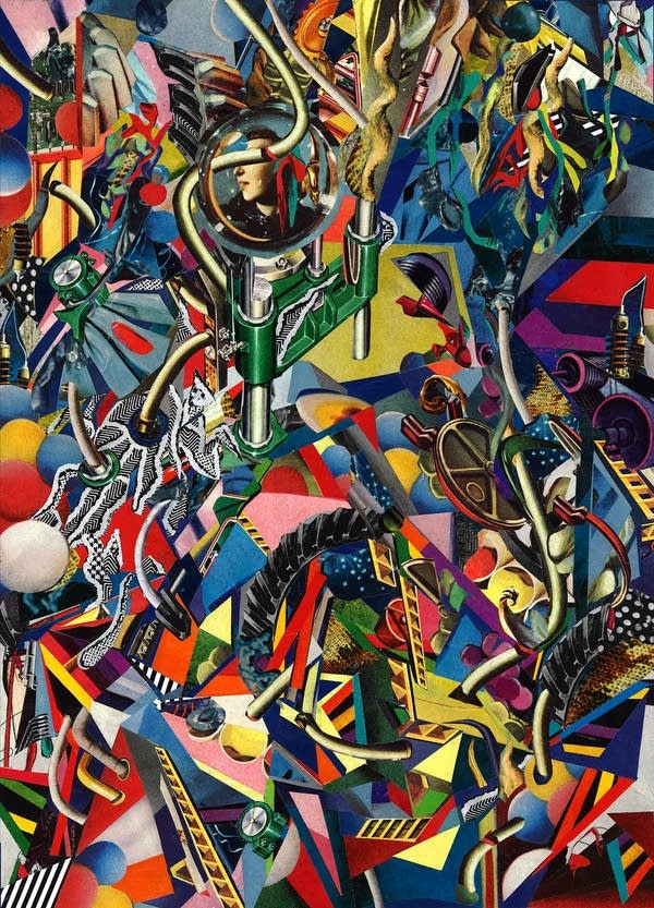 brightly colored abstract collage