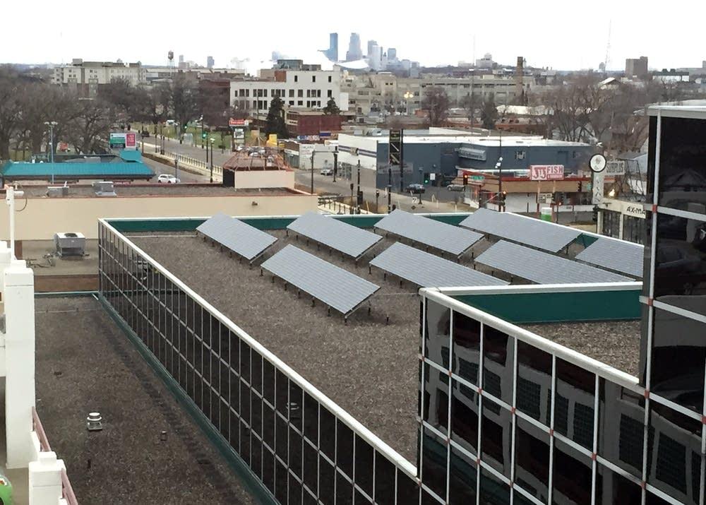 Solar array on the Spruce Tree Center in St. Paul