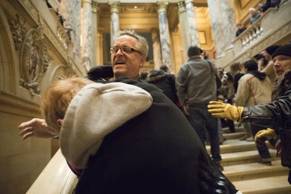 Supporters of President Trump and protesters clash at the Capitol.