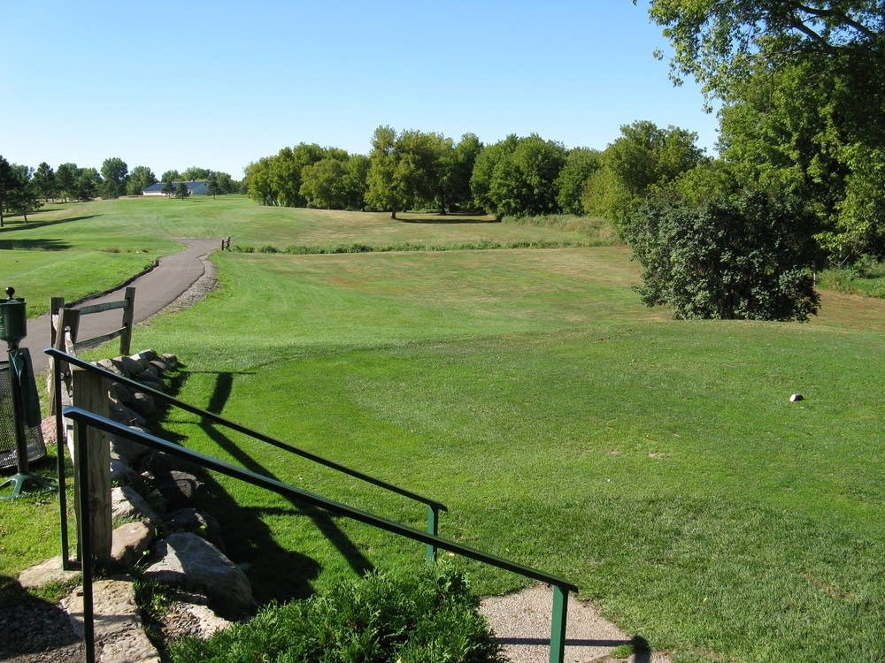18th tee before construction