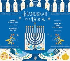 The cover a book about Hanukkah.