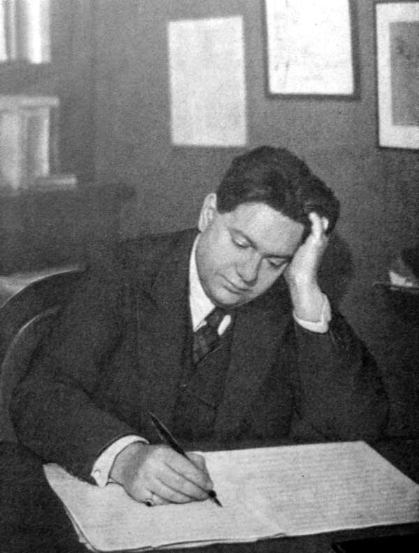 Composer Darius Milhaud at work in 1926