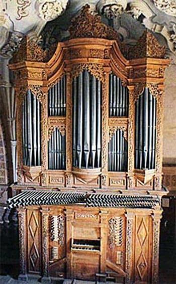 18th century organ at La Valencia in the city of Guanajuato, Guanajuato, México