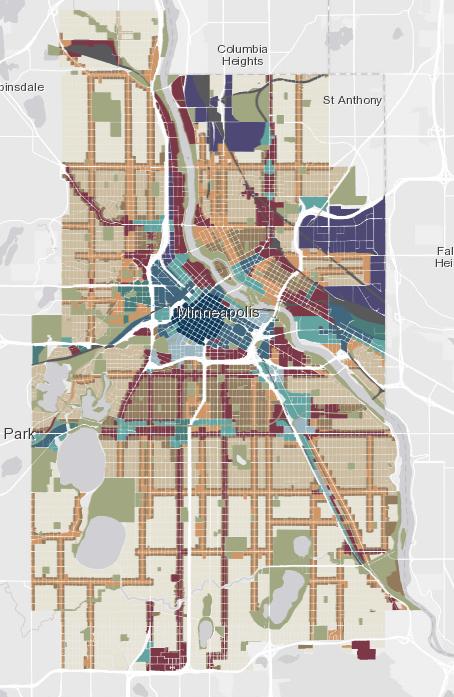 Minneapolis' new zoning map.
