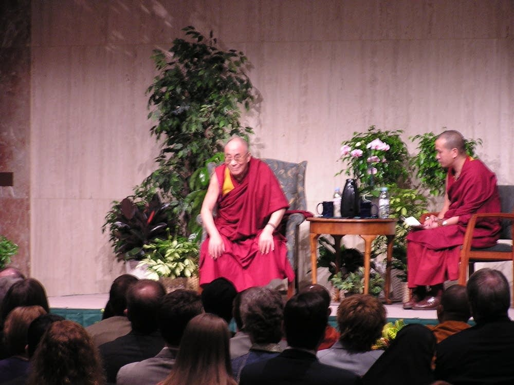 Dalai Lama and translator