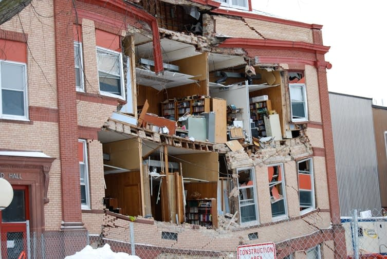 Part Of Historic Ndsu Building Collapses Mpr News