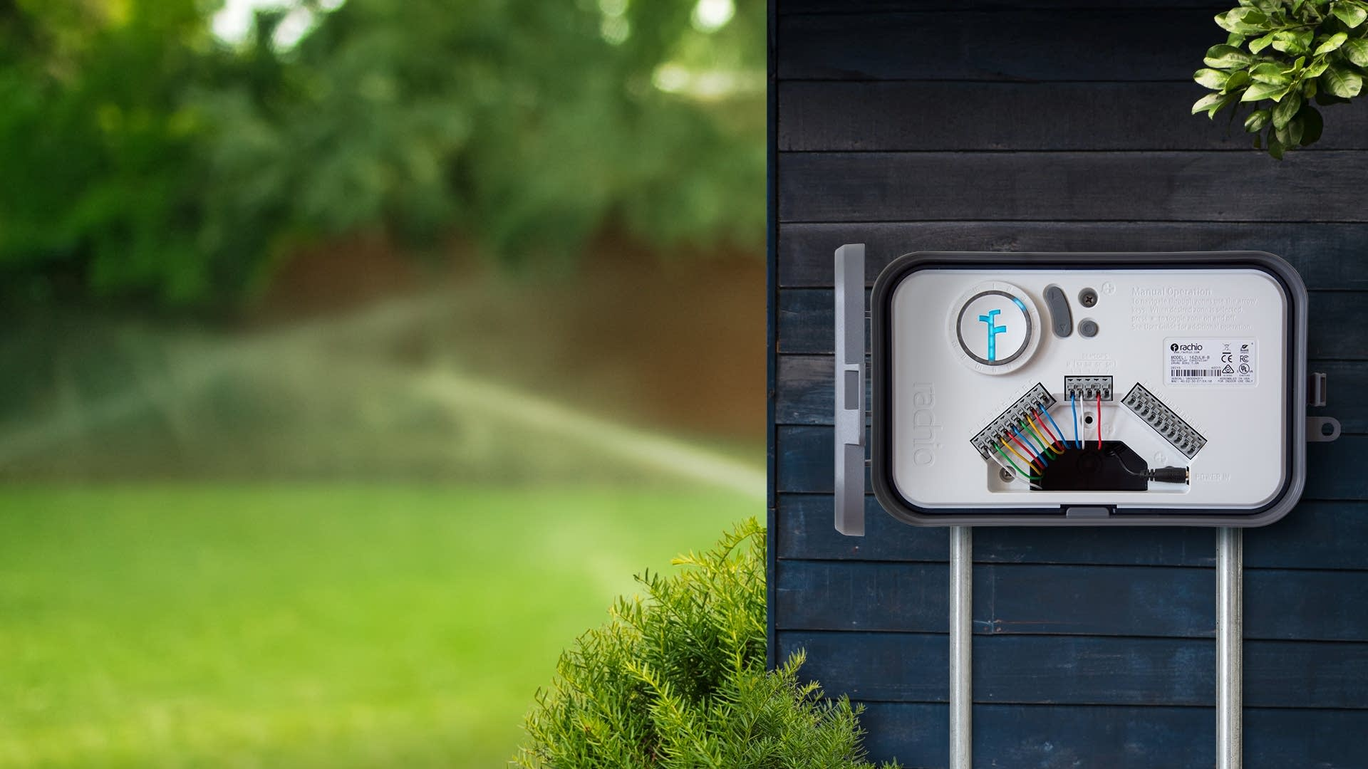Rachio controllers can help conserve water in home sprinkler systems.