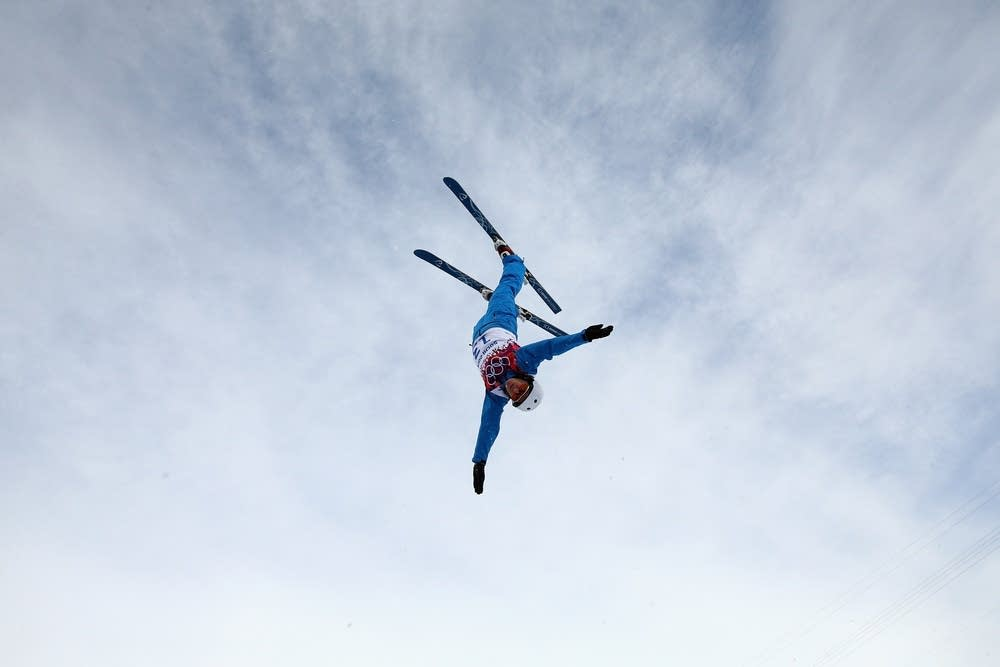 An athlete trains during Aerials
