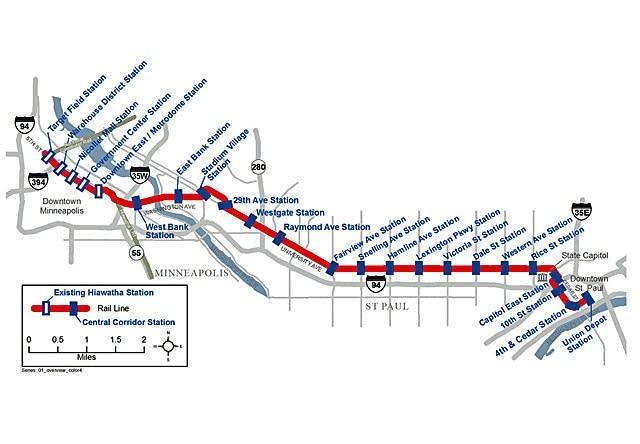 Central Corridor route
