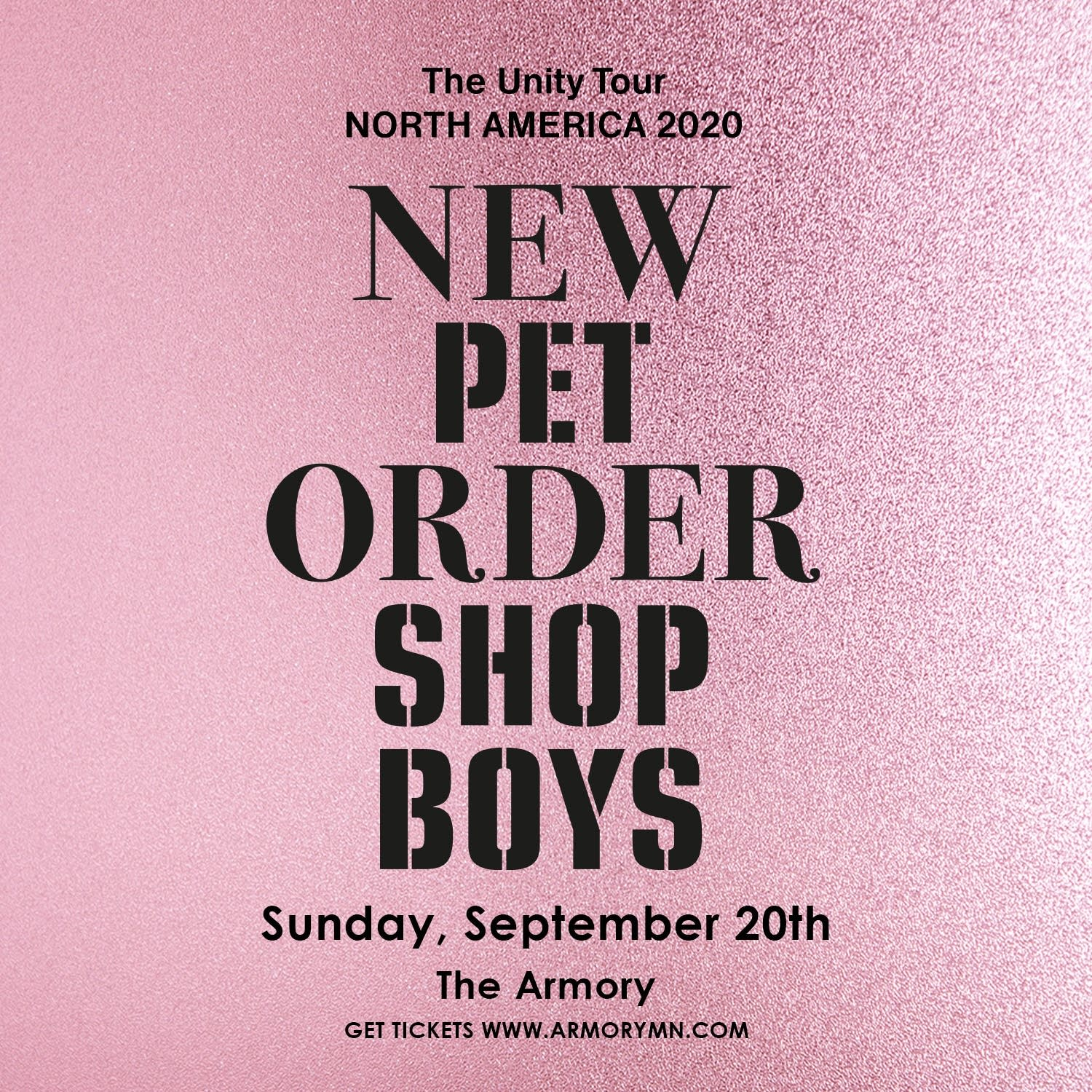 New Order/Pet Shop Boys flyer.