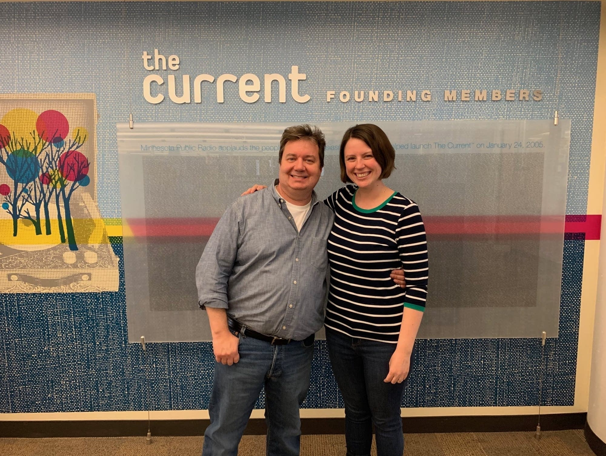 Author Duane Tudahl and The Current host Andrea Swensson