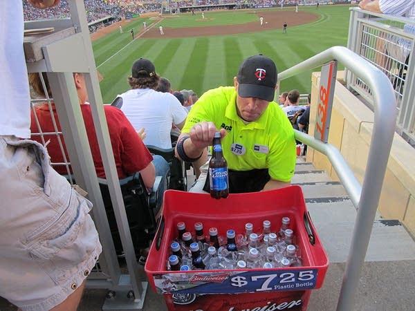 Target Field beer vendor