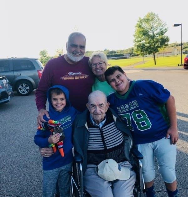 Leonard Novak with family